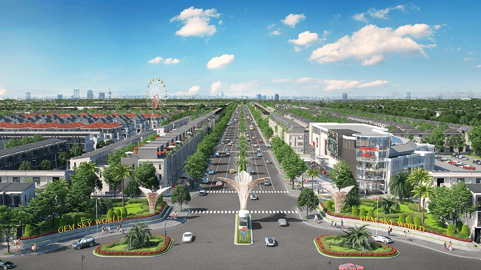 Đường giao thông trong khu dự án