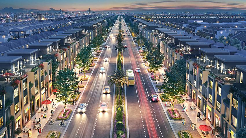 Phối cảnh đường phố trong dự án