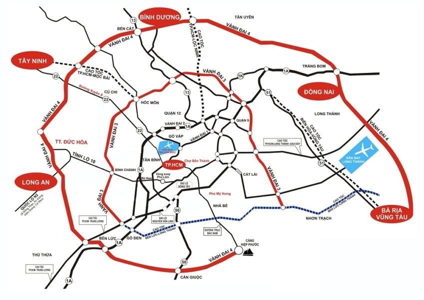 Gấp rút triển khai đường Vành đai 3, Vành đai 4 và Cao tốc TP.HCM – Mộc Bài