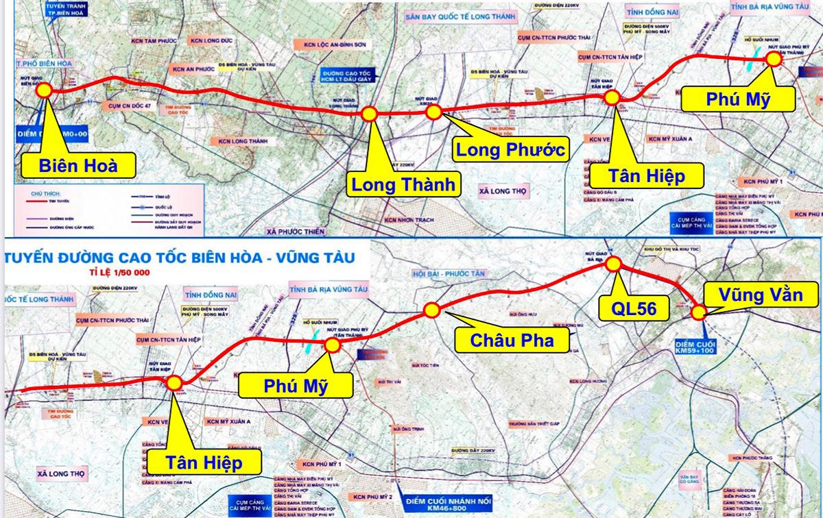 Cao tốc Biên Hoà – Vũng Tàu sẽ khởi công cuối năm nay